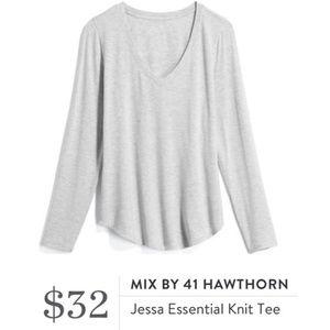 MIX BY 41 HAWTHORN Jessa Essential Knit Tee